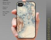 Vintage Bar Harbor-Winter Harbor Map iPhone Case for iPhone 6, iPhone 5/5s, or iPhone 4/4s, Samsung Galaxy S5, Galaxy S4, Galaxy S3
