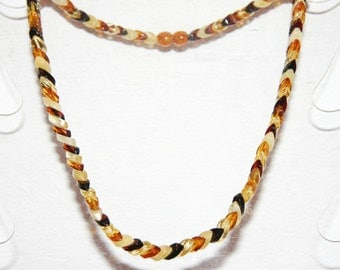 Baltic amber necklace for adults, multicolor leaf shape beads 27