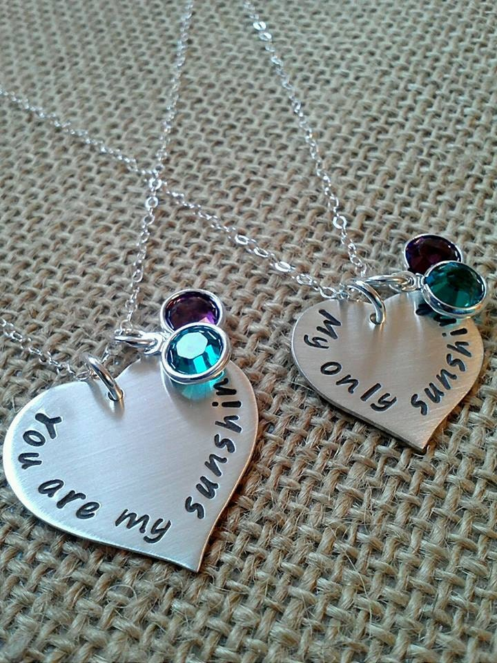 Mother Daughter Necklace You Are My Sunshine My Only