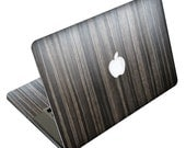 MacBook Pro or MacBook Air - Metallic Wood Skin FULL COVERAGE (Front, Keyboard & Bottom) by iCoverSkin