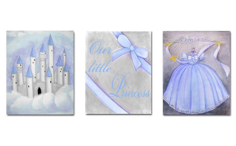 baby girl nursery princess wall art nursery decor by handpainting. Black Bedroom Furniture Sets. Home Design Ideas