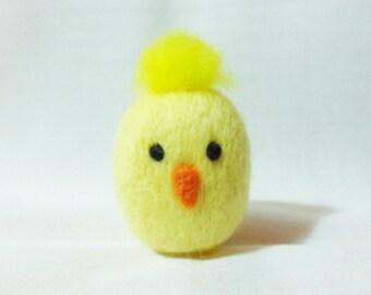 Needle Felted Chick -  miniature chick figure - 100% merino wool - wool felt chick - Easter chick