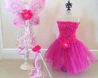 Pink Fairy Costume, Elena of Avalor costume, Pink Fairy Wings, Pink Fairy, Fairy Party Favors, Princess Party Favors, Princess tutu