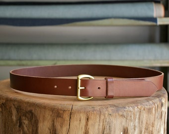 Brown Leather Belt - English Bridle - Handcrafted in U.S.A.
