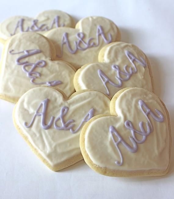 Heart Monogram / Initials Sugar Cookies with Buttercream