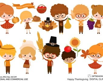 Thanksgiving Digital clip art for Personal and Commercial use - INSTANT DOWNLOAD