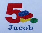 Lego Birthday T-Shirt or Bodysuit