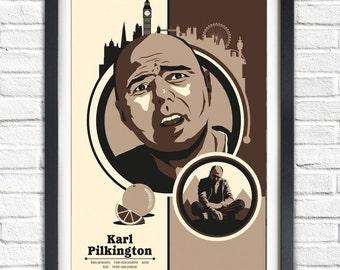 karl pilkington - Portrait Poster - 19x13 Poster