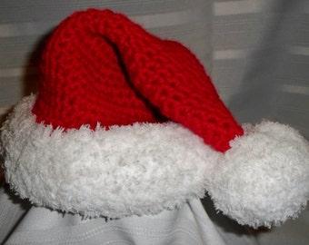 Crochet (Infant-Adult) Santa Hat, Boys Girls Childrens, Teens, Adult Christmas Hat