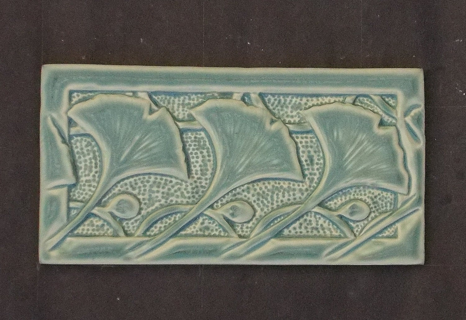 Arts and Crafts Mission Style Ginkgo Subway Tile - photo#47