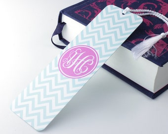 Chevron Print Bookmark – personalised metal bookmark - personalized unique bookmark - literary gift - teacher gift - book lover gift - p08