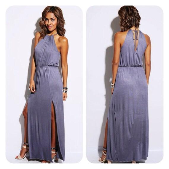 Galerry casual maxi halter dress