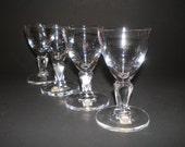7 Swedish Maleras Glas Cordial Glasses, NOS Sweden Crystal Stemware, Shot Glasses, Cut Glass