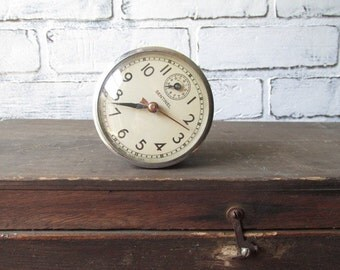 Clock Sentinel  Vintage E Ingraham Co Bristol Connecticut Industrial Decor Nonworking Clock