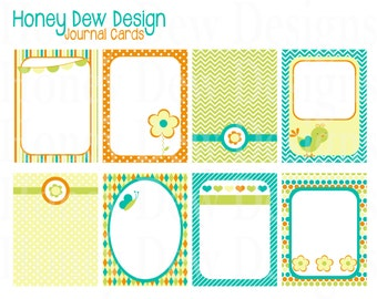 Instant Download - Journal Cards 001