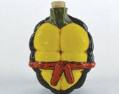 Porcelain Turtle Shell Flask - Red