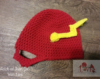 Crochet Speedy Flash Masked Beanie Hat