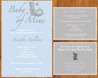Printable Custom Dumbo Baby Shower Invite