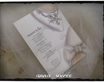 Mrs. and Mrs. BRIDAL SHOWER Invitations Shoe Theme Bridal Shower  - Same Sex Weddings LGBT