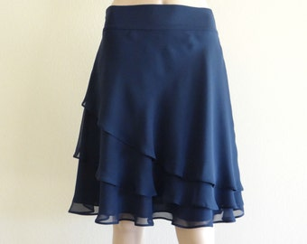 Navy Blue Skirt. Knee Length Skirt