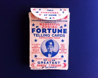 "Antique (1930's) ""Ingalls Wonderful Zodiac Fortune Telling Cards, ""Ingalls The Greatest Fortune Teller in the World""  FREE Ship USA"
