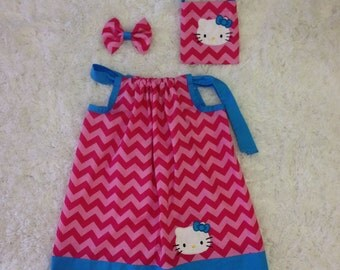 Hello Kitty Pillowcase Dress Purse and Bow