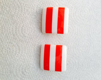 Blast from the past - square nautical earrings