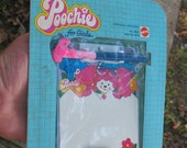 Vintage Mattel 1980s Poochie Noteboard Never Removed from Orig Package 1982