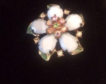 Vintage Jewelry Wedding bouquet antique brooch
