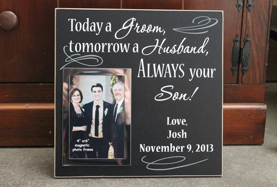 Wedding Gift From Parents To Son : ... son personalized wedding photo frame, wedding decor, wedding gift