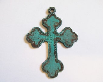 Cross with Turquoise patina #cc019-00