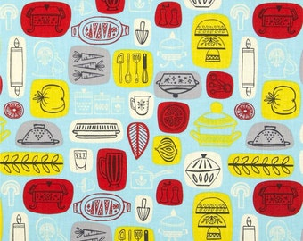 Camelot Fabrics What's Cookin' by Allison Cole Kitchen in Blue
