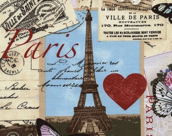 """Timeless Treasures April in Paris 54"""" Canvas in Antique by the Yard"""