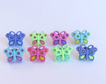 Butterfly  Push Pins or Magnets