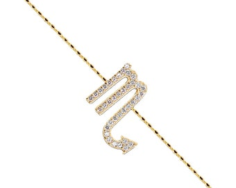 Pave Scorpio Bracelet-Yellow Gold