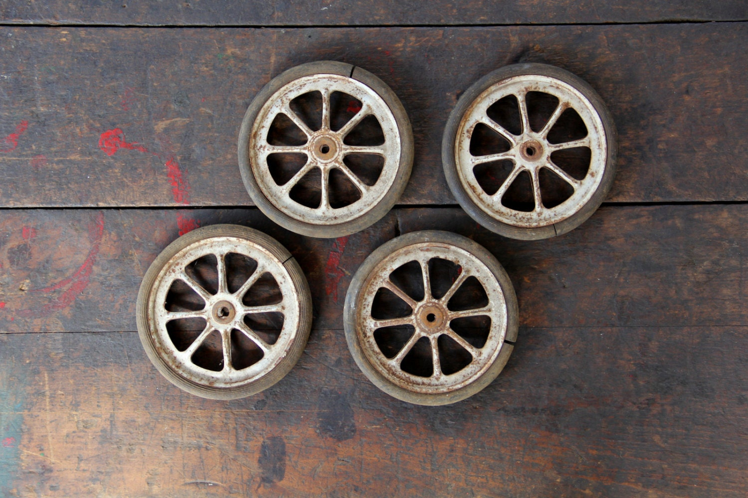 Antique Buggy Wheels Vintage Stroller Wheels Vintage Spoked