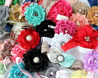 Baby Headband Grab Bag, Discontinued baby headbands, shabby chic headband, toddler headband, newborn headbands, flower baby headbands, baby