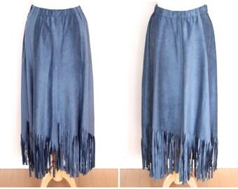 CLEARANCE vintage 90s LINDA LUNDSTRÖM fringed skirt
