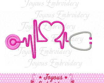 Instant Download Stethoscope Applique Embroidery Design NO:1524