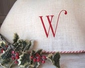 """Oversize White Burlap Christmas Tree Skirt 