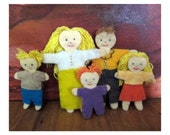 kids toys-- Felt Doll Family -- felt toys