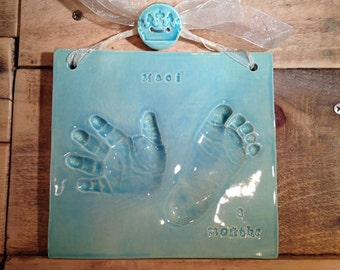 Custom Ceramic Handprint Tile