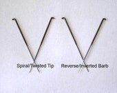 Spiral and Reverse Barb Felting Needles - Set of 4 - from Purple Moose Felting