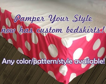 Custom Bedskirt - Personalized Bedskirt - Create Your Own Bed Skirt - Can match any personalized bedding