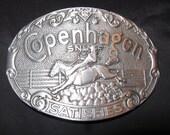 Copenhagen Belt Buckle Snuff Rodeo Collectors Buckle Mint Condition Smokeless Tobacco