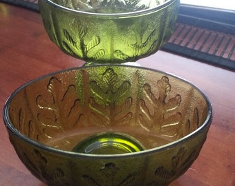 Two (2) Vintage Green FTD Bowls (1975)