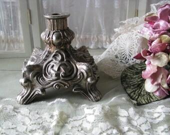 Vintage Ornate Brass Pedestal Base Hollywood Regency Shabby Home Decor Vintage Hardware Assemblage