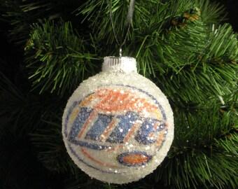 NEW!! Miller Lite Beer, glass glitter ornament