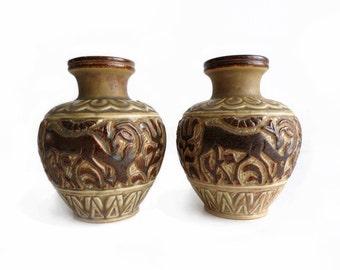 Vintage // Marianne Starck // Michael Andersen // Two vases // Danish ceramic // Danish modern // Denmark
