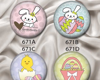 "Easter Cuties - Interchangeable Magnetic Design Inserts - FIT Clique and Magnabilities 1"" Pendant Jewelry Bases...671"